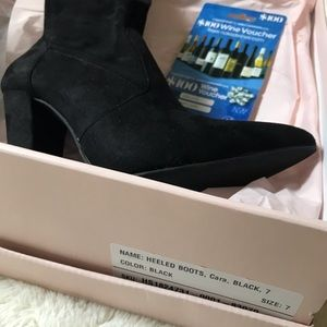 JustFab Cara Knee-High Solis Black Boots